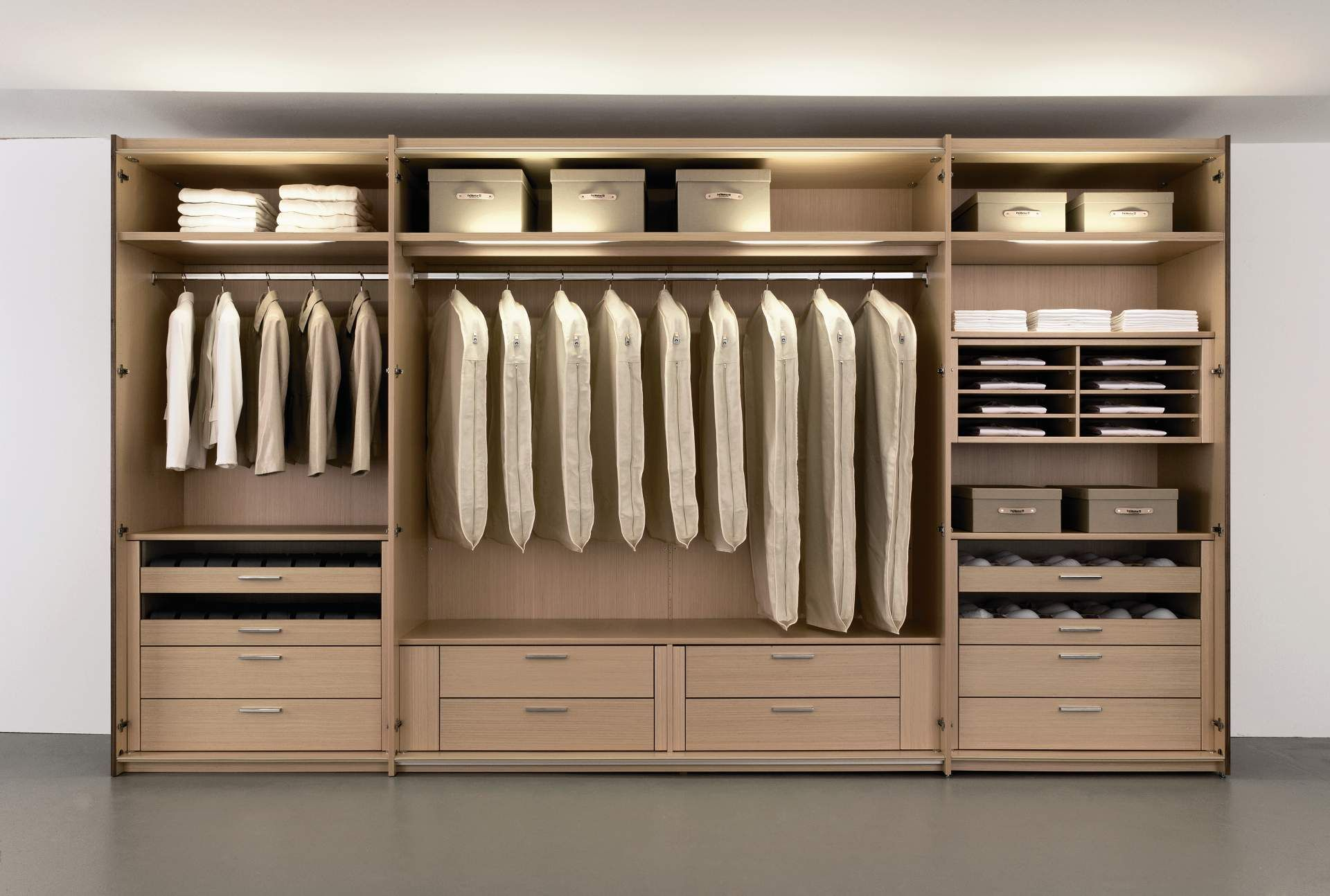 Beautiful open wardrobe design plus metal clothes rack and - Wardrobe interior designs for bedroom ...