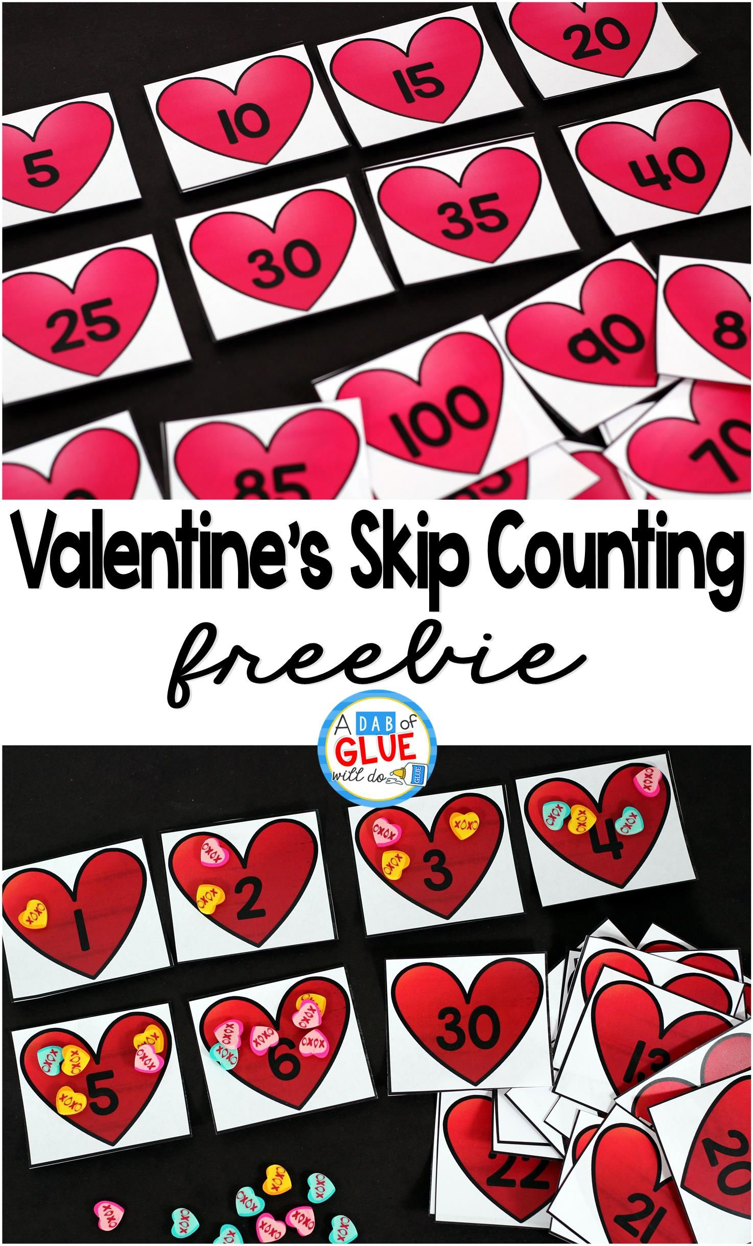 Valentine S Day Skip Counting Math Printable