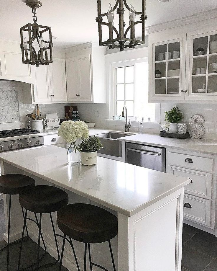 quality design 0c101 811a1 kitchen, I have the lights, stools would be nice | Kitchens ...