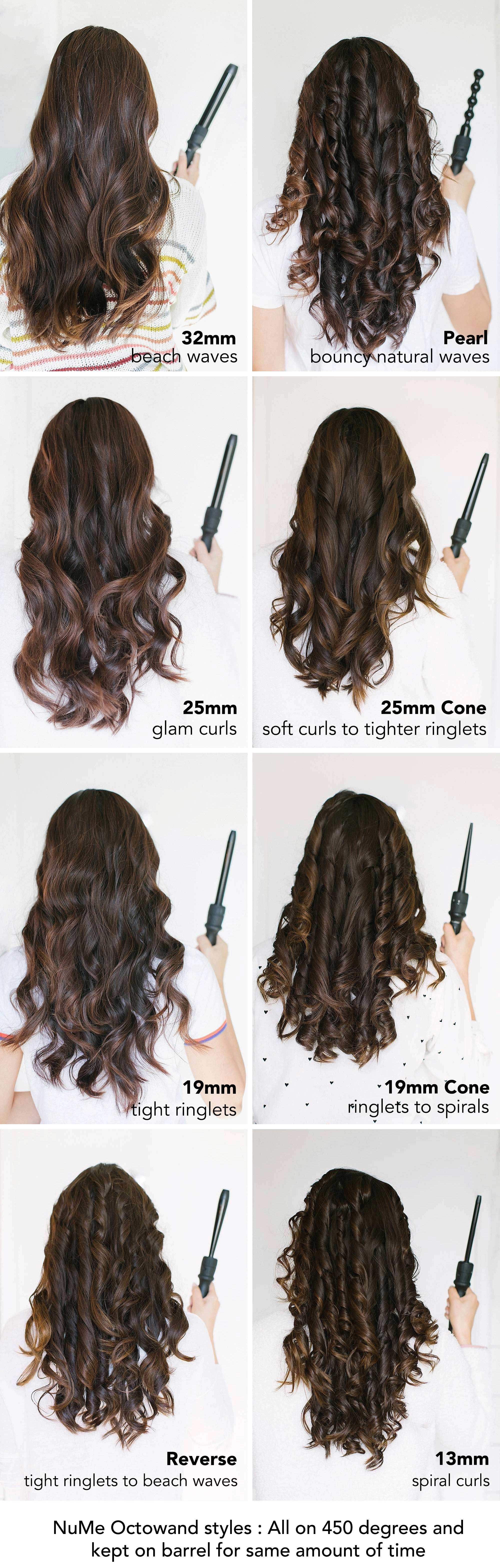 8 Looks With The Nume Octowand 8 In 1 Interchangeable Curling Wand Diana Elizabeth Curling Hair With Wand Wand Hairstyles Medium Hair Styles