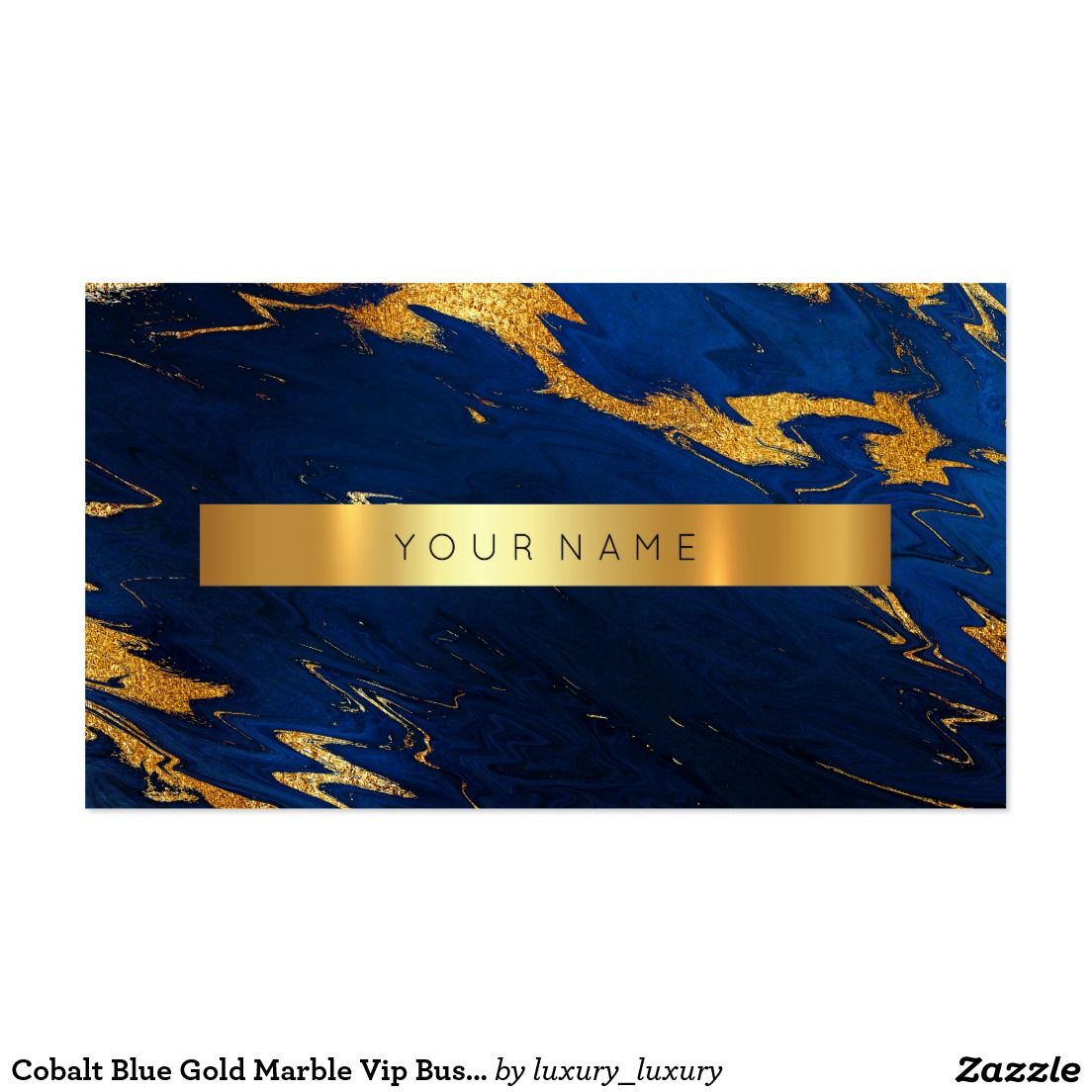 Cobalt Blue Gold Marble Vip Business Card | Brand Identity Ideas ...
