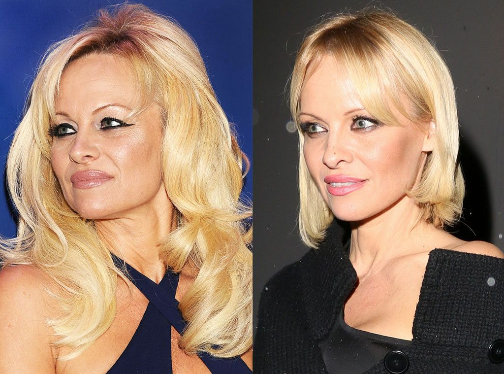 Pamela Anderson From Celebrity Haircuts The Bob Pinterest