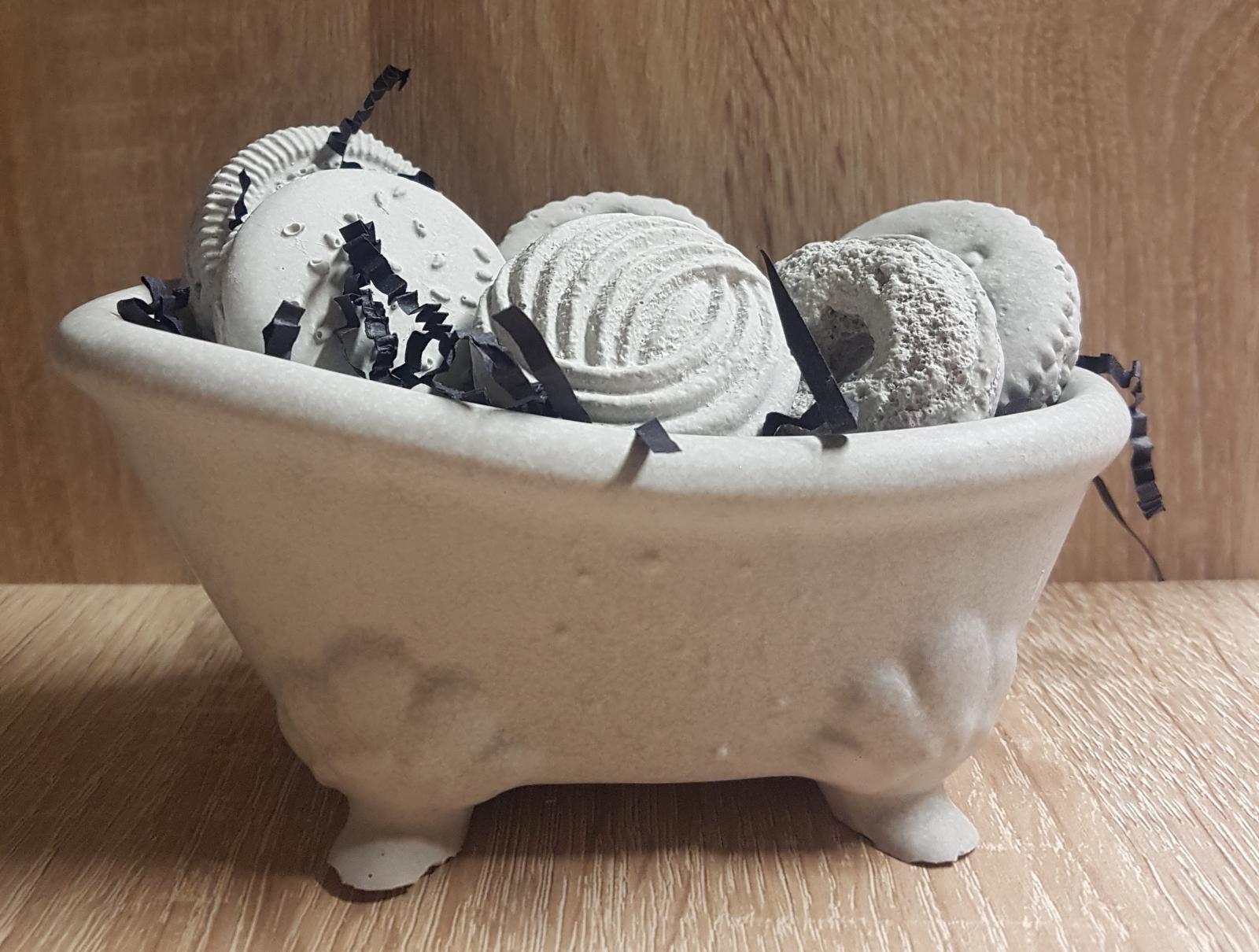 Ambientador Bañera grande y Galletas color gris sin olor ...