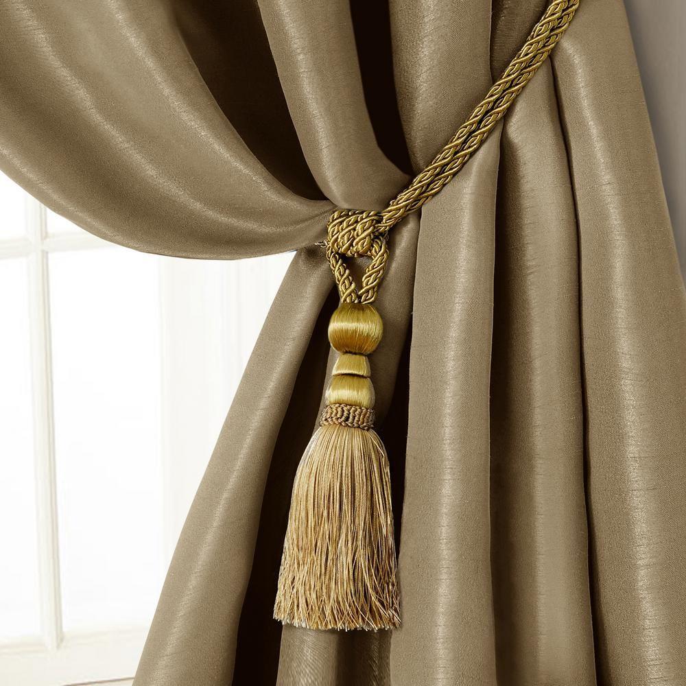 Elrene Amelia 24 In Tassel Tieback Rope Cord Window Curtain