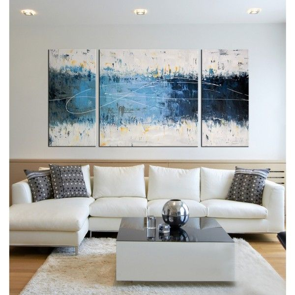 Wake Up 3 Piece Gallery Wrapped Canvas Art Set 95 Liked On Polyvore Featuring Home Home Decor Living Room Canvas Living Room Art Canvas Art Wall Decor