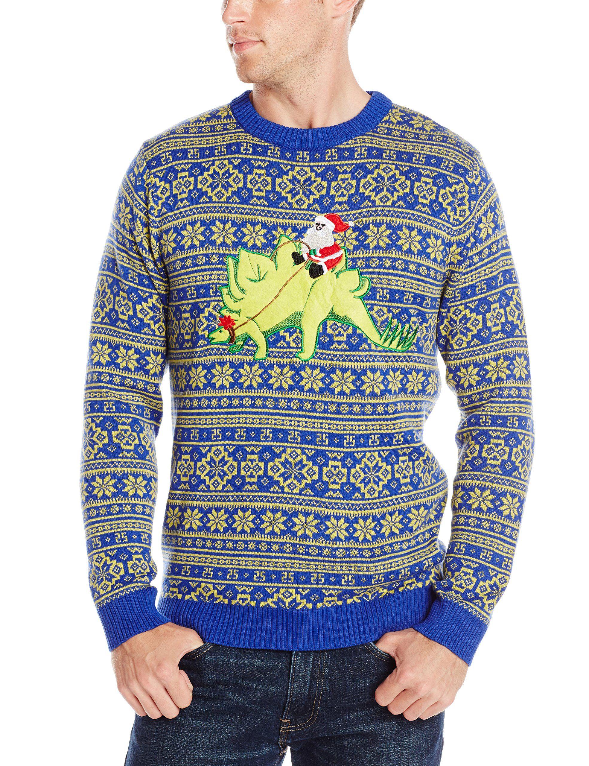 ebd81f15ee39 thepoppel Alex Stevens Men s Stegosaurus Santa Ride Ugly Christmas ...