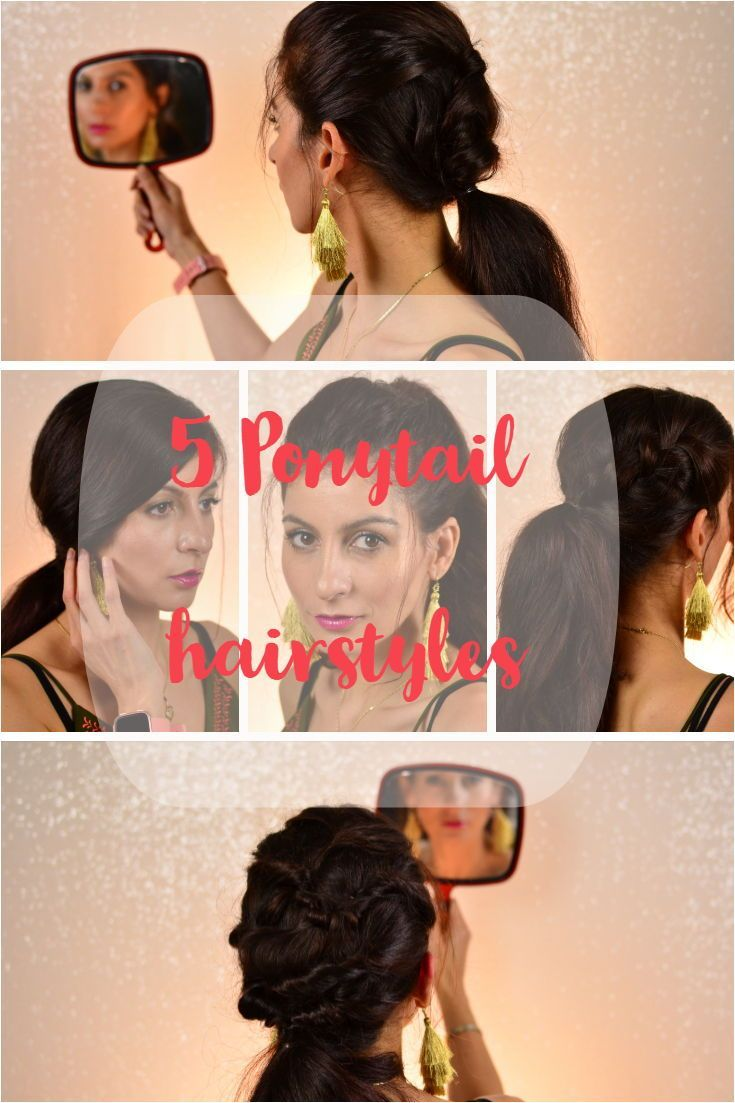 5 Ponytail hairstyle. Everyday ponytail. 5 chic ponytails. easy hairstyle easy h #bridemaidshair