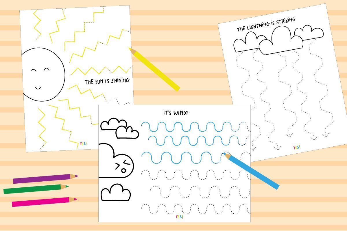 Preschool Line Tracing Worksheets The Weather In