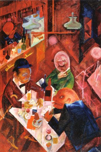 Cafe 1916 Painting By George Grosz Reproduction Gallery St Louis Art Museum Art Painting