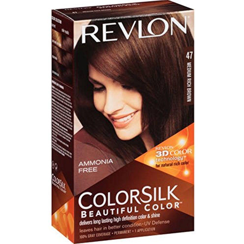 Revlon ColorSilk Hair Color [47], Medium Rich Brown 1 ea Pack of 7 Gallery