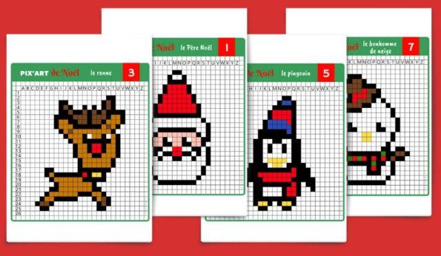 Modèles Pixel Art à Imprimer