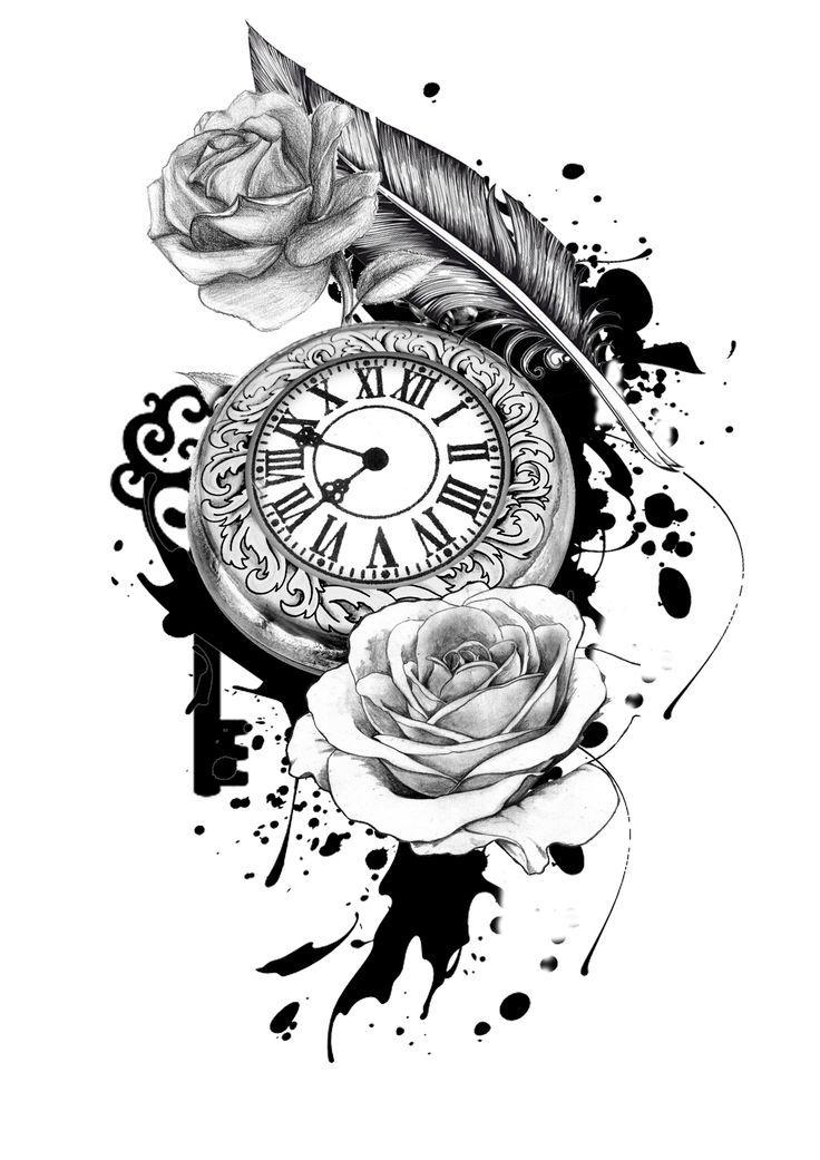 Plantillas De Tatuajes Diseños De Relojes Letras Y Más