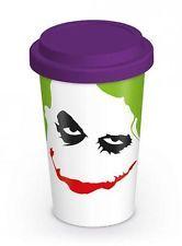 Ceramic Batman The Dark Knight Joker Travel Coffee Mug Cup With Silicone Lid