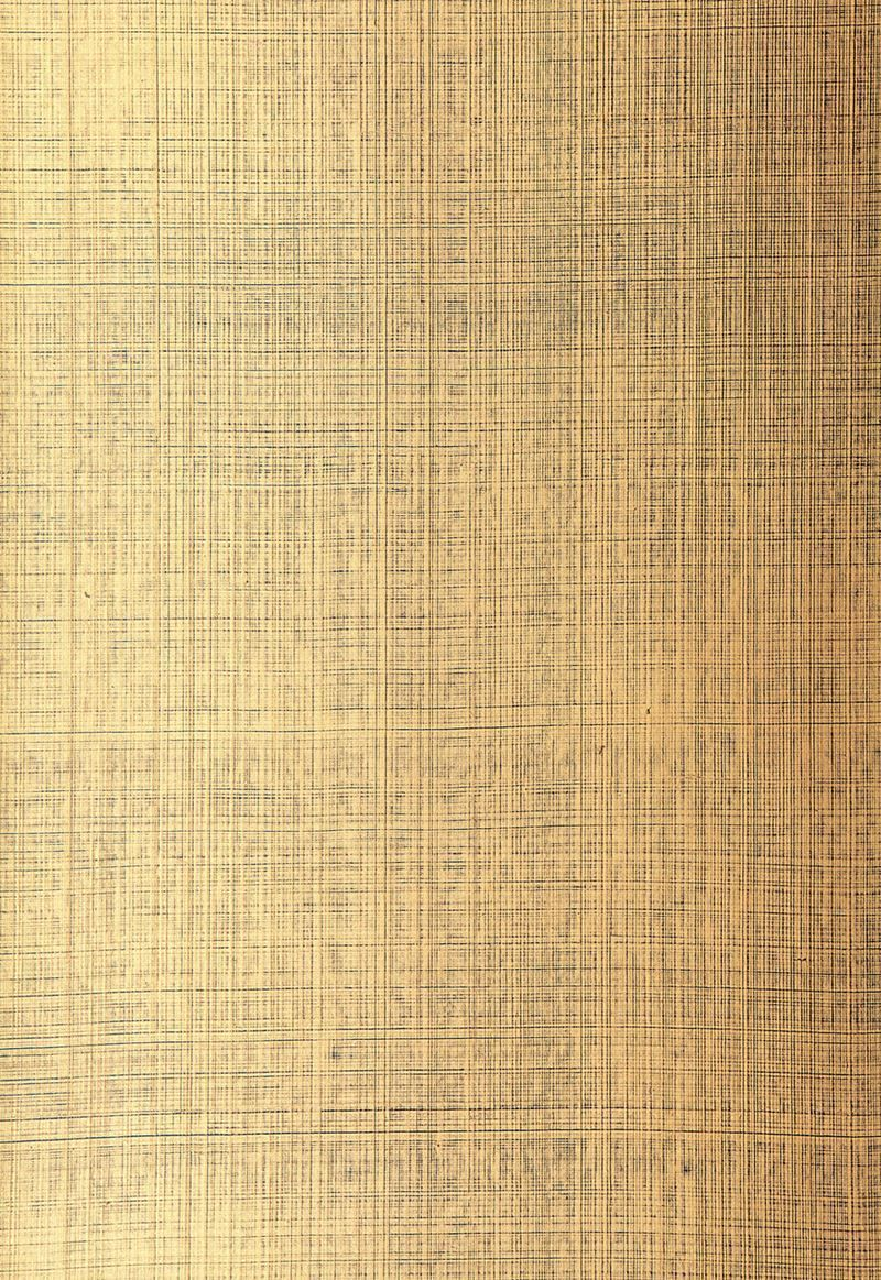 Brushed Linen Patterned Carpet: Schumacher Wallpaper 5005784 Brushed Plaid Gilded Teal In