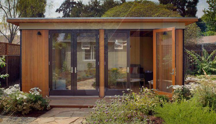 Backyard Cottage Prefab Design House Plan Affordable: The Tiny Modern Cabana Home.