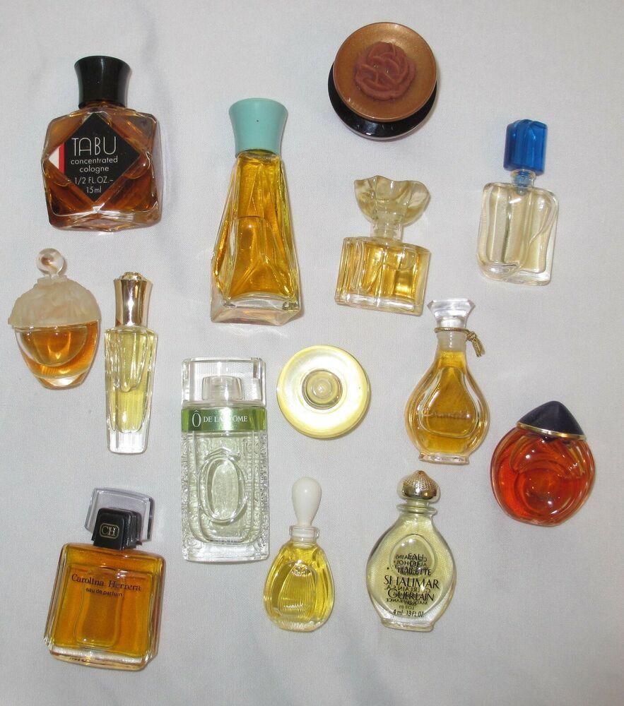 Lot Vintage Mini Perfume Bottles Carolina Herrera Madame Rochas Shalimar Tabu Perfume Bottles Perfume Display Perfume