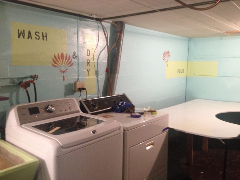 Laundry room end product.