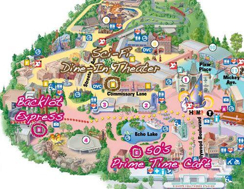 Hollywood studio map | Disney | Hollywood studios, Hollywood studios ...