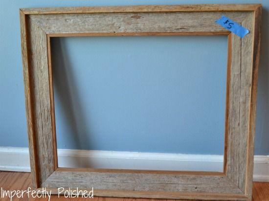 rustic frame diy - Google Search | Crafts | Pinterest | Rustic ...