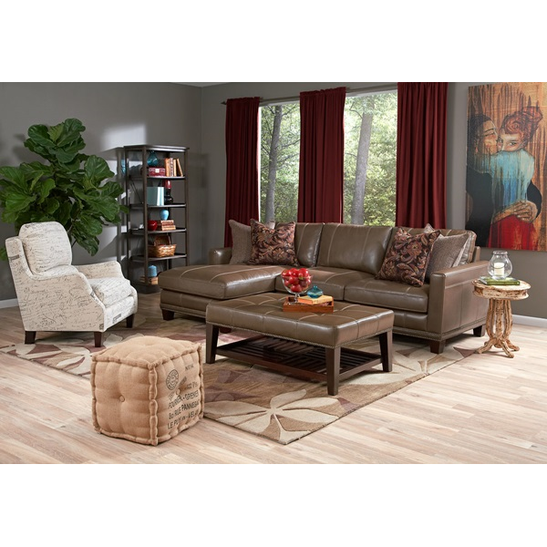 Superb Stationary Leather Living Room Group | Brianu0027s Furniture