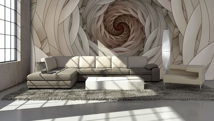 Swirls abstract design giant wall murals allwallpapers black and white silver blast mural