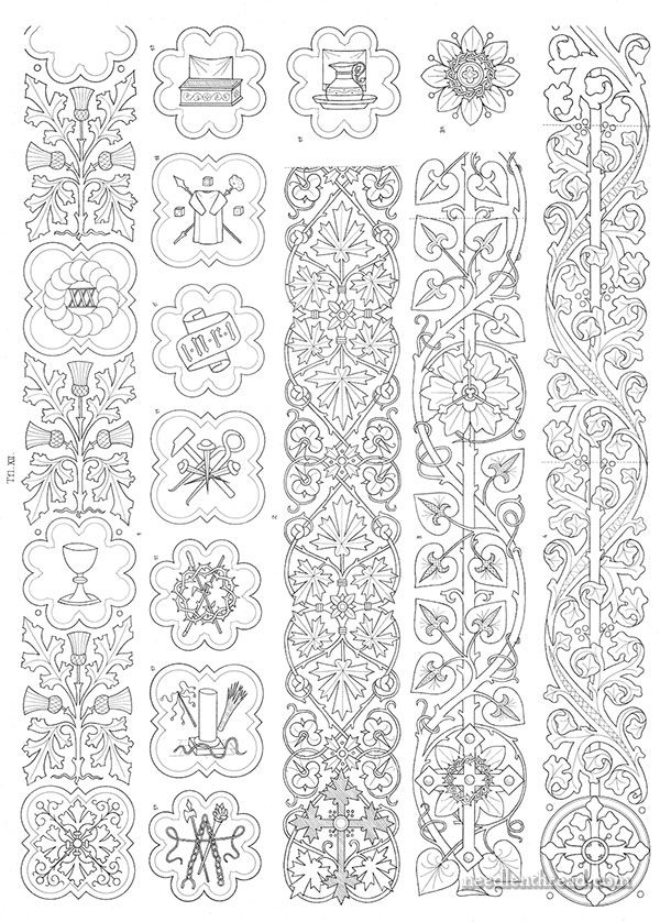 Ecclesiastical Embroidery: Old Pattern Folios & a Free Design ...