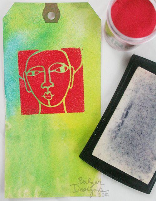 Julie Fei-Fan Balzer Stencil and embossing powder  EmbossingPowder-wm