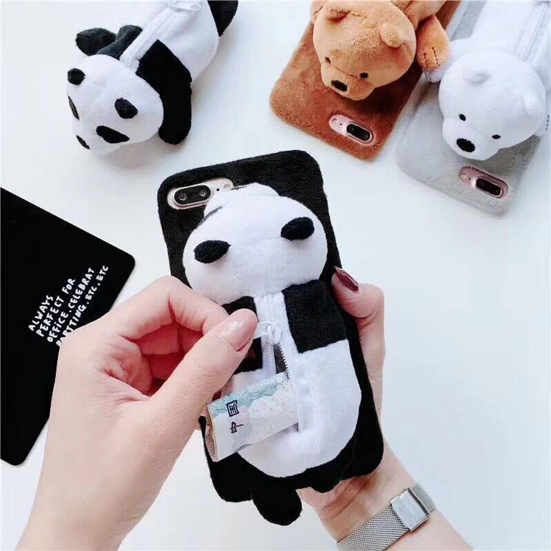 $ 7.87 – Netter 3D-Cartoon Wir entblößen Bären Geldbörse Soft Case Cover für Iphone X 8 7 6 Plus #ebay #Electronics