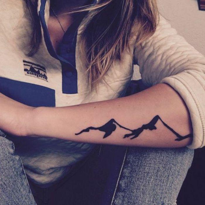 1001 Dessins Originaux De Tatouage Montagne Sister Tattoo
