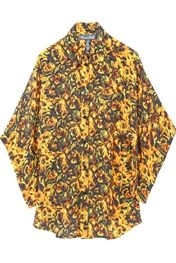 Winter KateOversized Shirt in Gold Floral