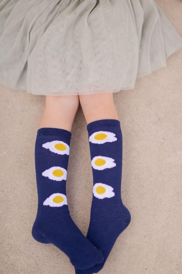 Fried Egg Tall Socks