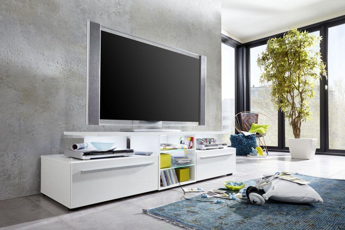 Tv Lowboard In Weiss Hochglanz Trendteam Version Weiß Holz Modern Jetzt  Bestellen Unter: Https://moebel.ladendirekt.de/wohnzimmer/tv Hifi Moebel/tv   ...