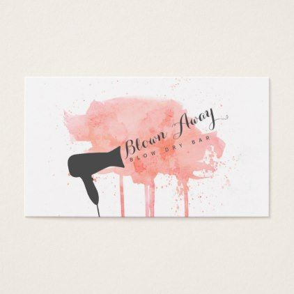 Grunge pink chic modern blow dry bar hairstylist business card grunge pink chic modern blow dry bar hairstylist business card colourmoves Image collections