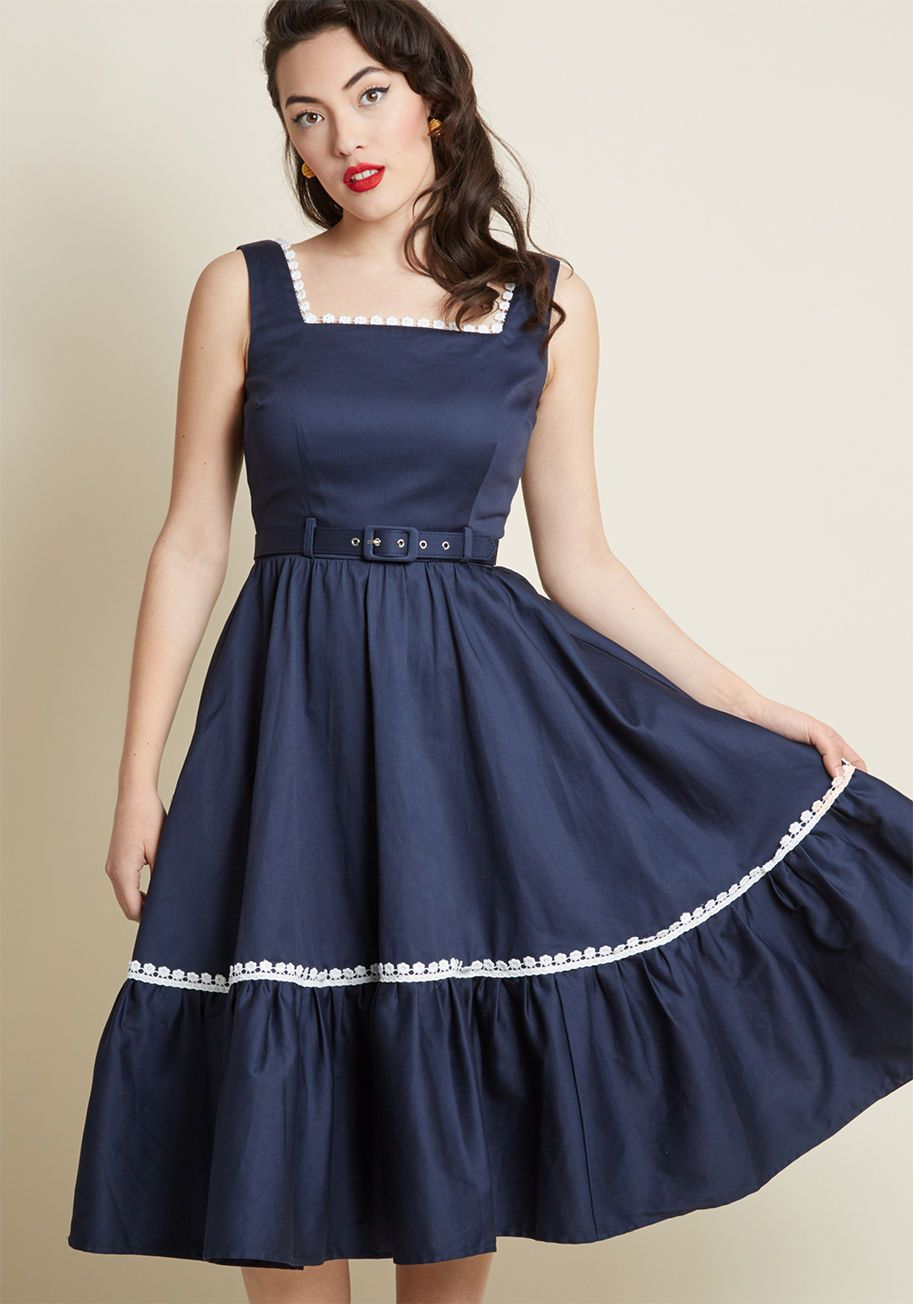 81bf8601a4 Collectif x MC Passion for Poise Midi Dress in Navy
