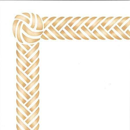 Braided Border & Knot Furniture Stencil | Stenciling, Country chic ...