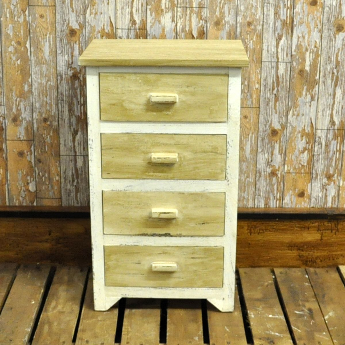 Rustic style painted drawer bedside table pallet creativity