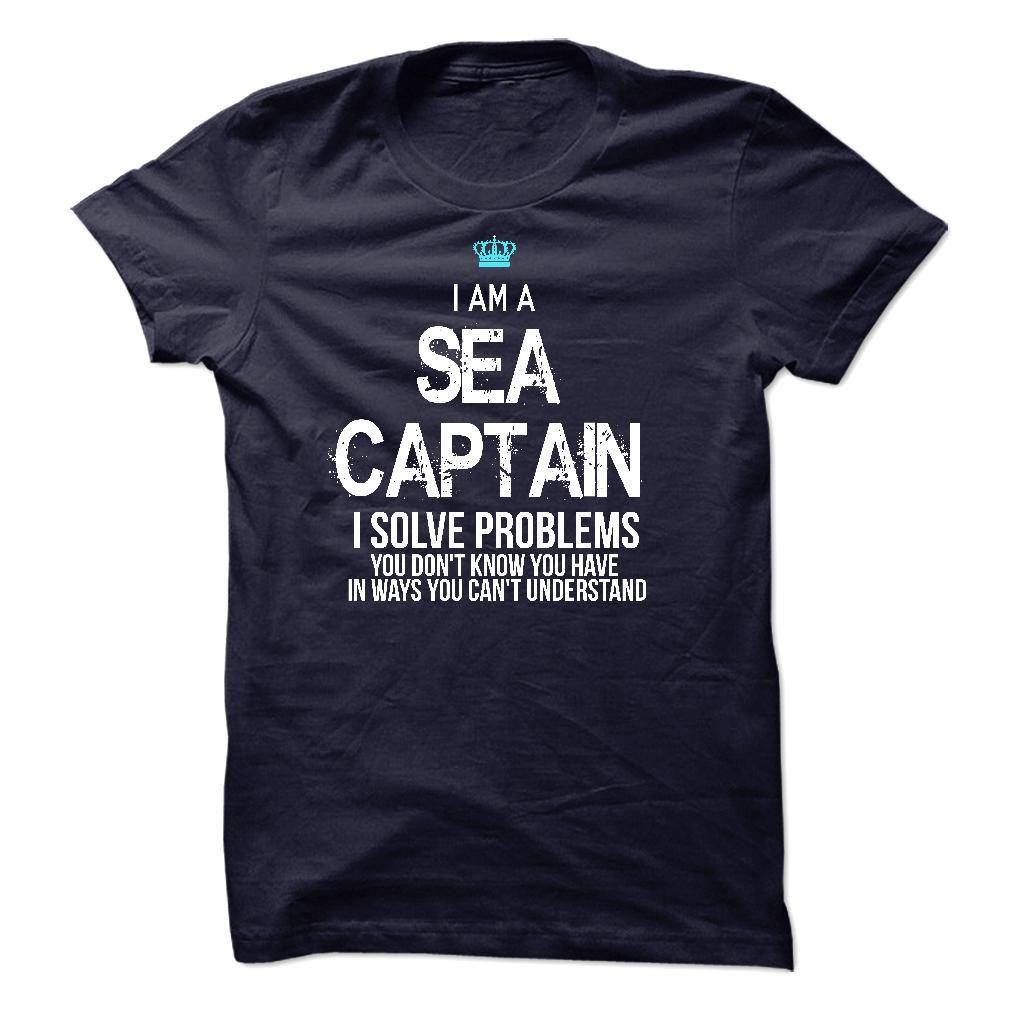 """i Am A Sea Captain"" | Premium - Fitted Guys Tee Sea Green Shirt"