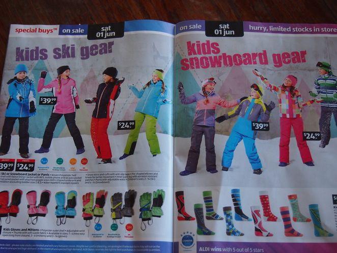 Snow gear sale aldi