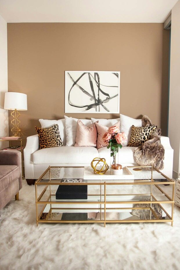 Gold Accents Glam Living Room Home Decor Bedroom Living Room