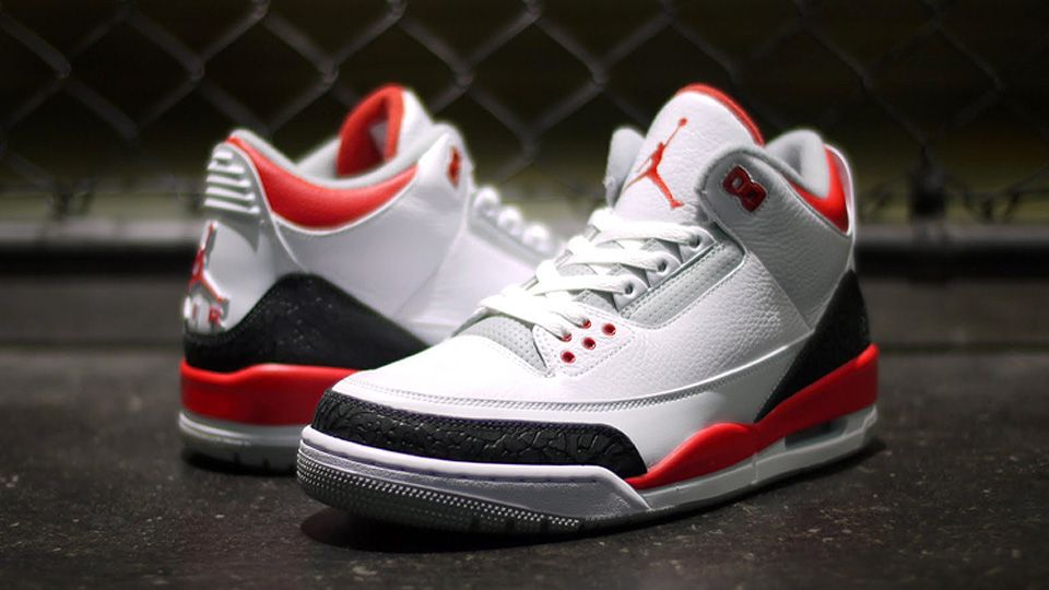 air jordan 3 fire red 2006 mustang