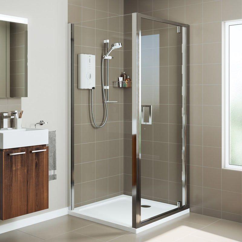 Mira Leap Square Pivot Shower Enclosure In 2020 Shower Enclosure Shower Doors Rectangular Shower Enclosures