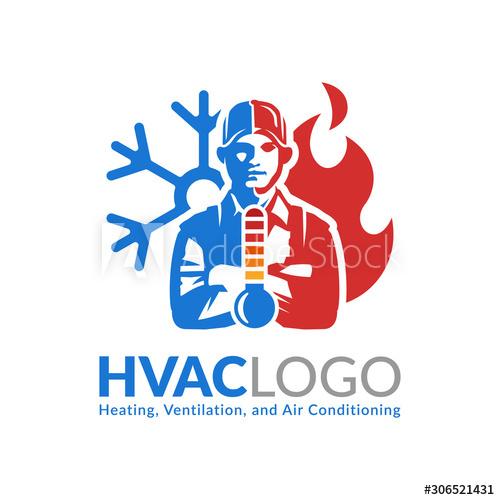 Hvac Logo Design Heating Ventilation And Air Conditioning Logo Or