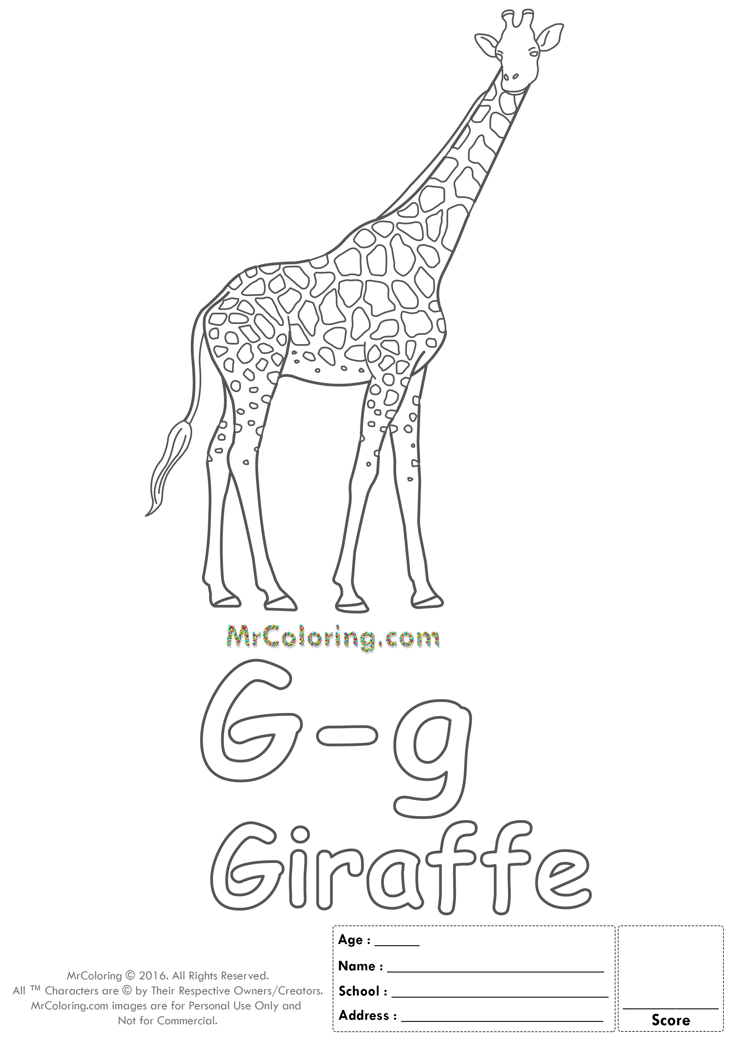 Alphabet Letter Gg Coloring Pages Coloring Worksheets