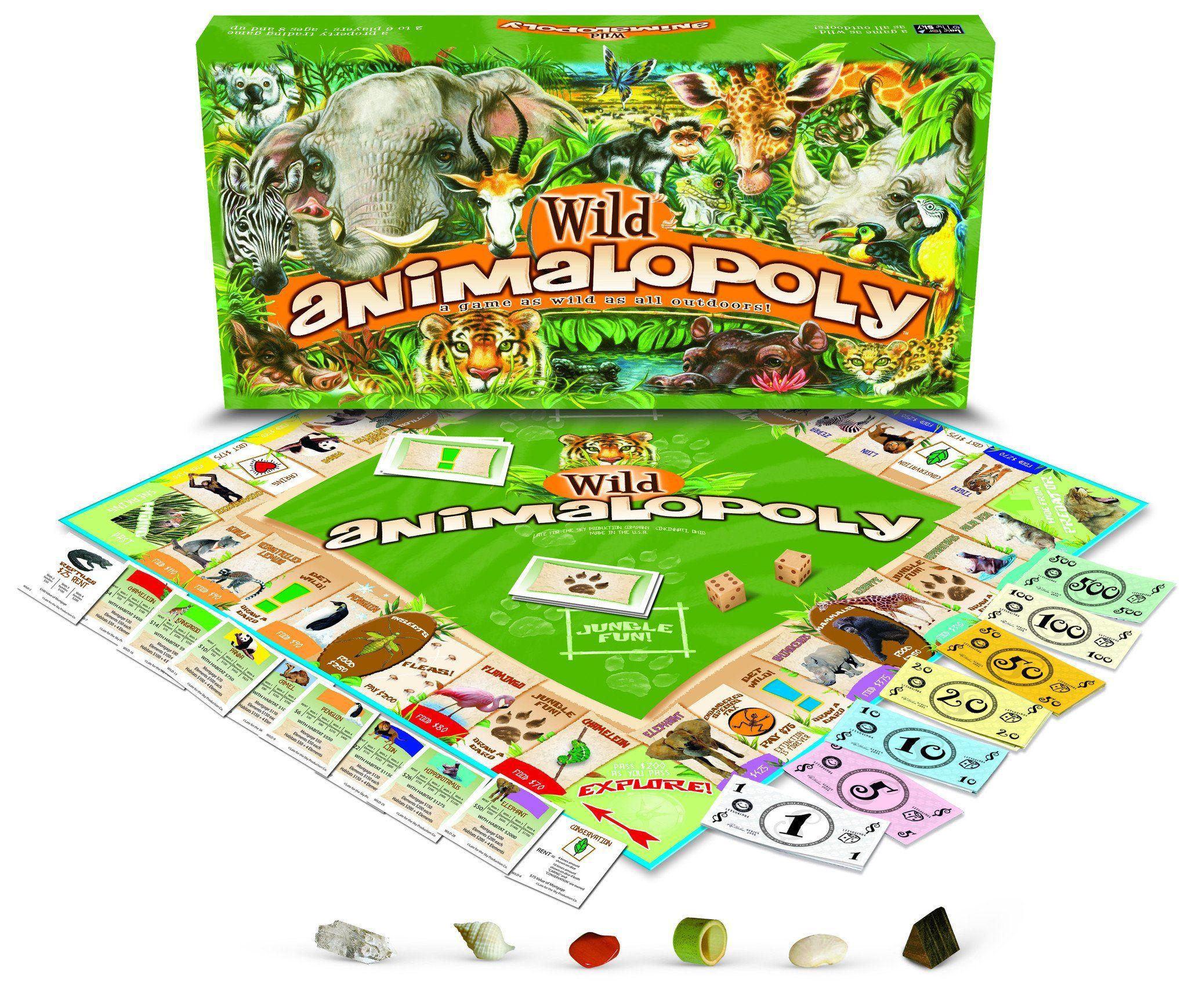 Game Wild Animalopoly Animal games, Board games, Big