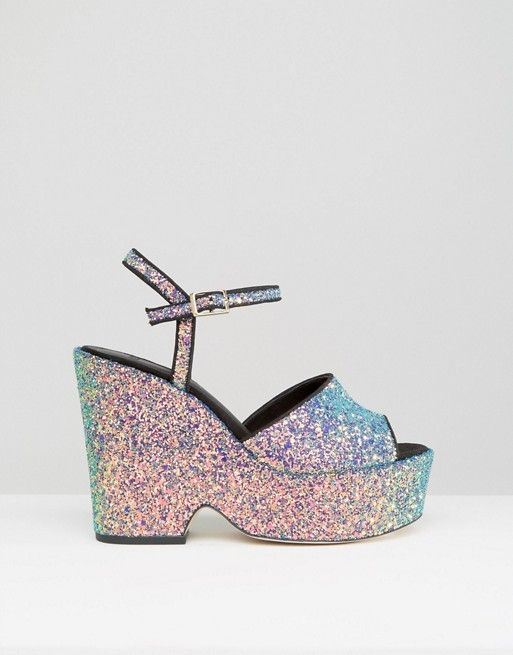ASOS | ASOS HORATIO Glitter Wedges
