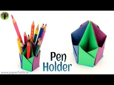 Origami Craft Tutorial To Make A Paper Hexagonal Pen Pencil