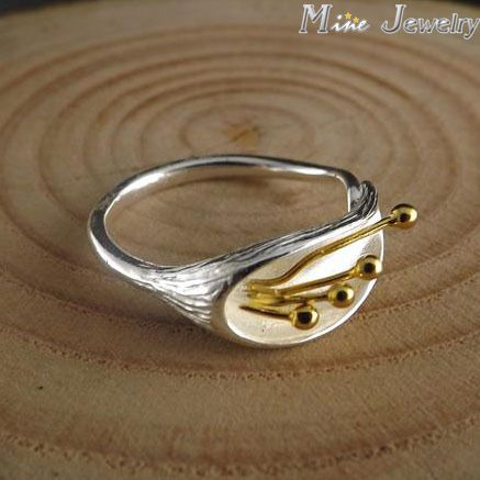 Free Shipping 925 Sterling Silver Ring Fine Fashion Flower Silver Jewelry Ring Women Gift Finger Rings