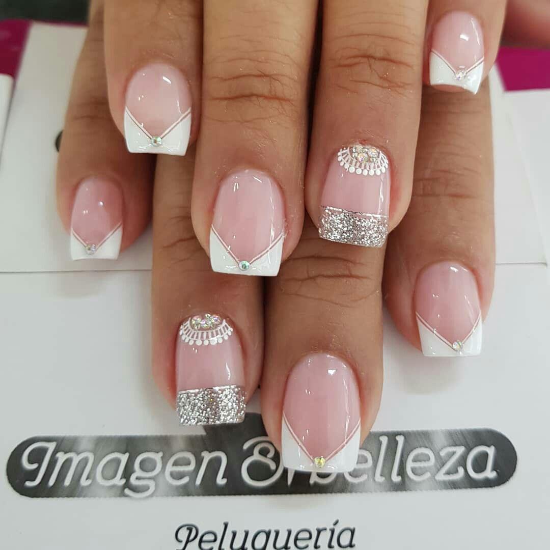 Pin De Mafer Valdospinos En Nails Uñas Para Novia Uñas