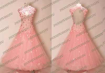 NEW SUGAR PINK BALLROOM DANCE COMPETITION DRESS