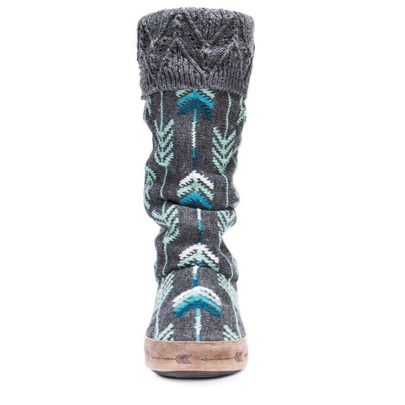 112ed31452fb Muk Luks Women s Winona Boot Slipper Accessories (Dark Grey Heather)